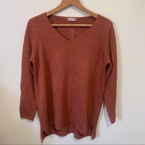 Merona Rust V-Neck Sweater